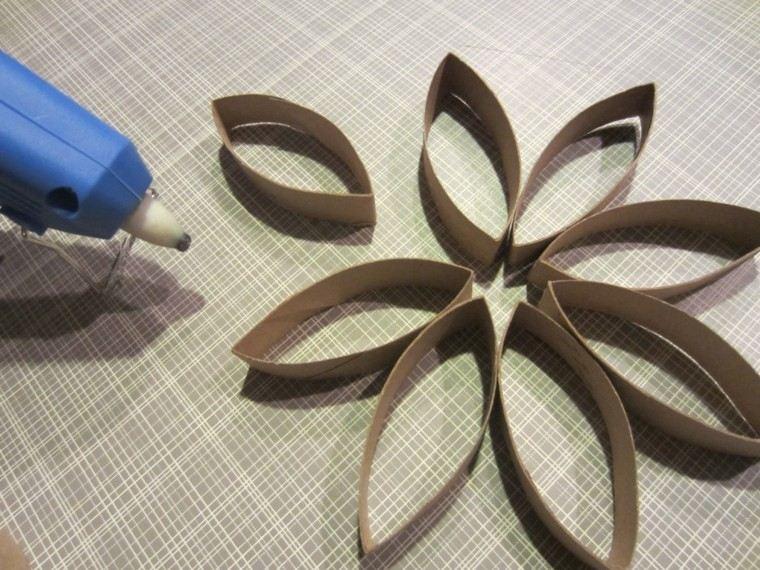 adornos navideños ideas pegamento flor