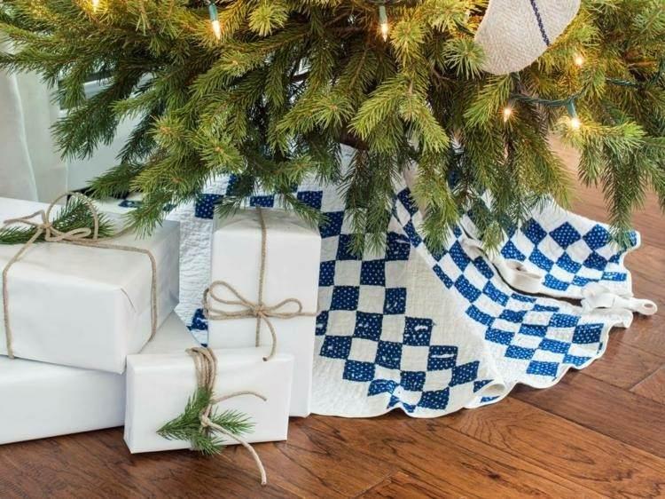 adornos navideños caseros envolturas natrales lazos
