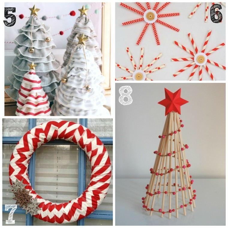 adornos navideños diy coronas pinos