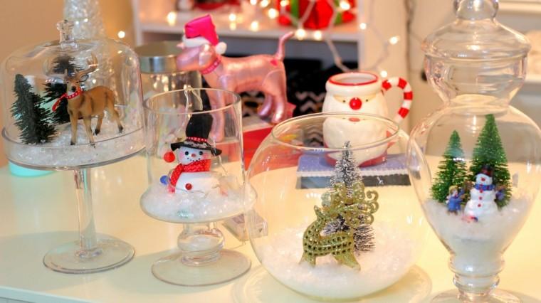 adornos navideños ideas vidrio figuras