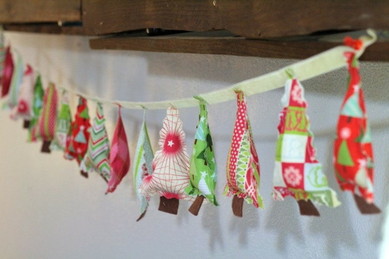 adornos navideños ideas tela infantil