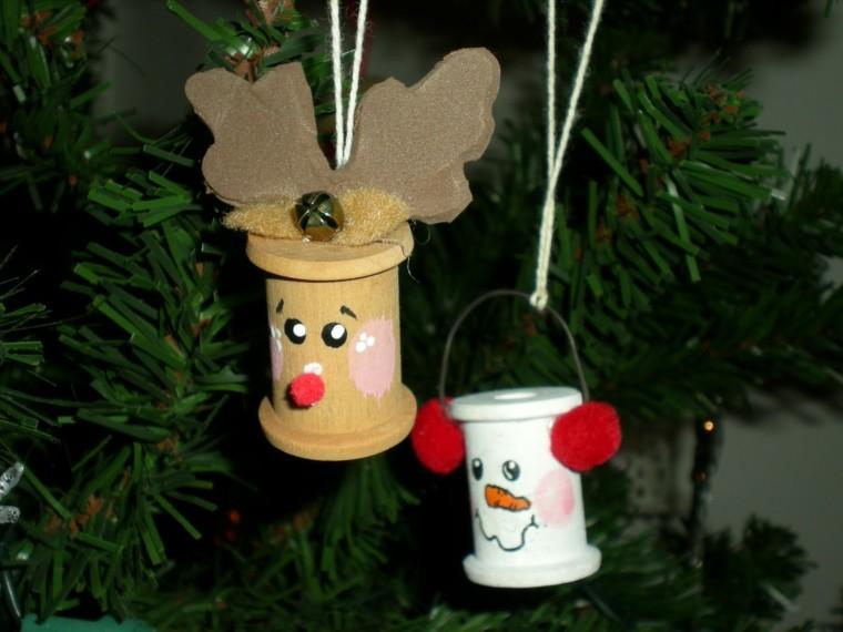 adornos navideños ideas infantil renos