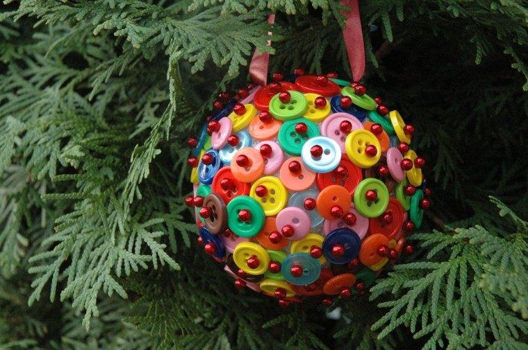 adornos navideños ideas plantas esfera