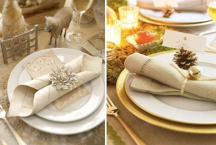 adornos navideños mesas colores arboles velas