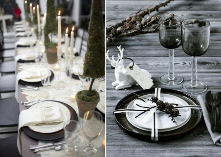 adornos navideños mesas copas mesa venados