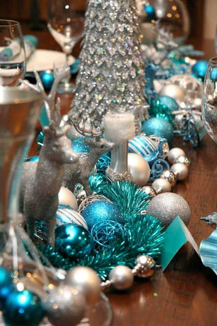 adornos navideños mesas venado azul