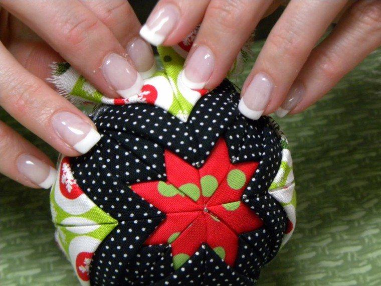 adornos navideños ideas telas manos