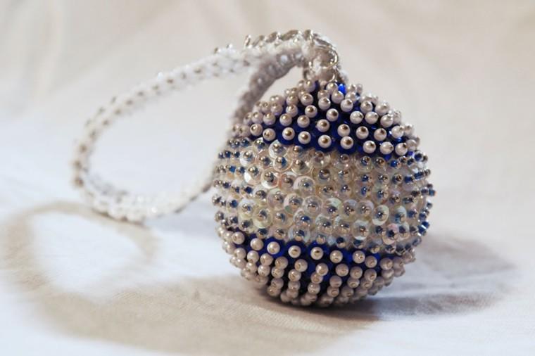 adornos navideños ideas combinada perlas