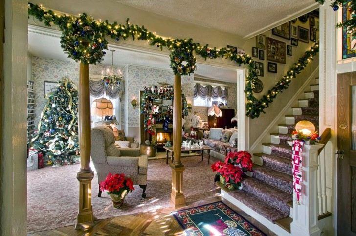 Como decorar un salon para la navidad 50 ideas - Adornos para un salon ...