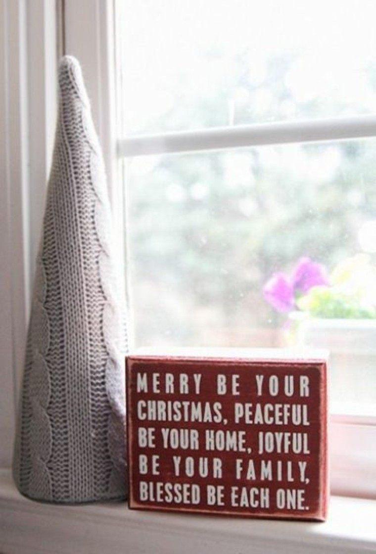 adornos navidenos tejidos lana arbol navidad gris ideas