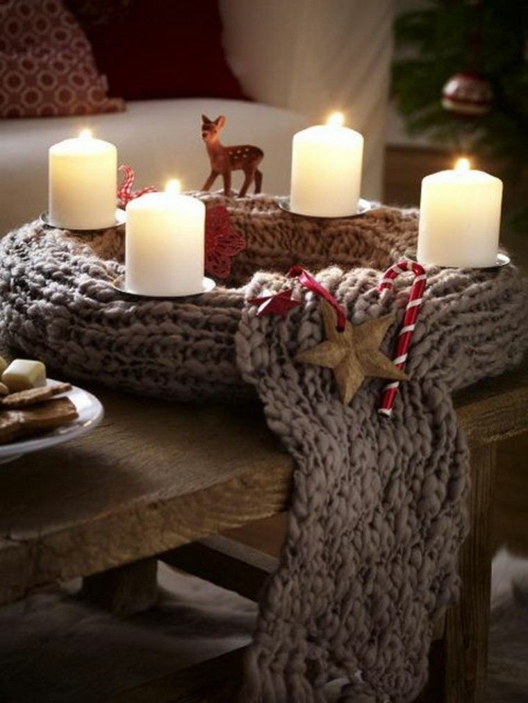 adornos-navidenos-tejidos-lana-guirnalda-velas