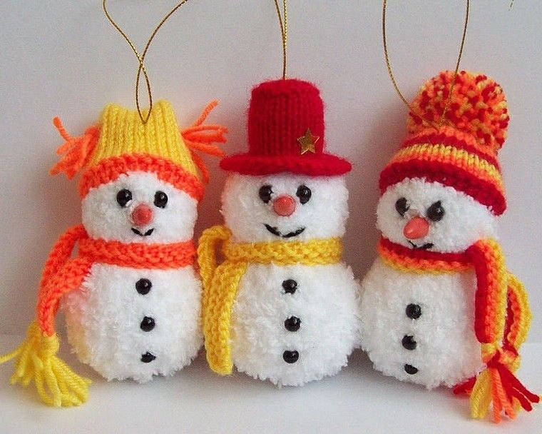 Adornos navide os tejidos de lana para decorar la casa - Nieve para arbol de navidad ...
