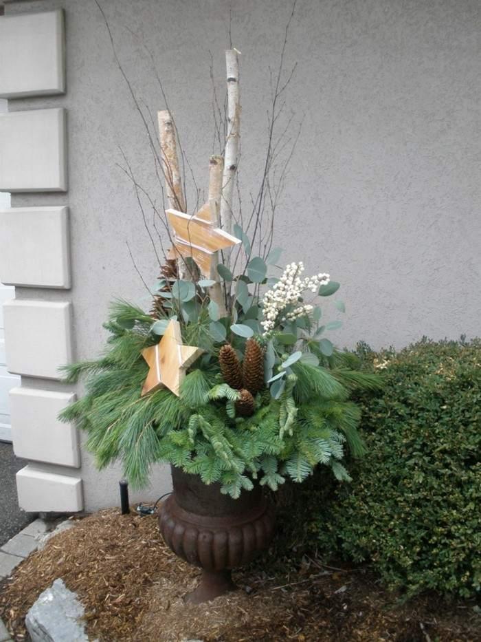 adornos plantas naturales navidad ramas