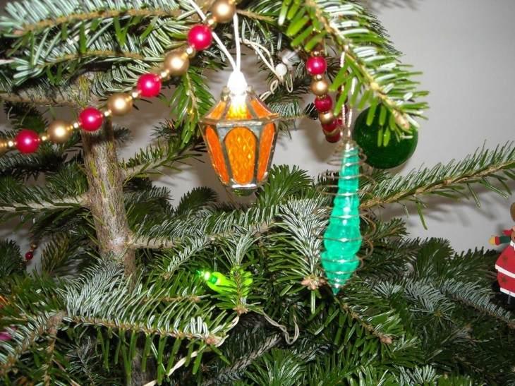 adornos estilo retro arbol navidad