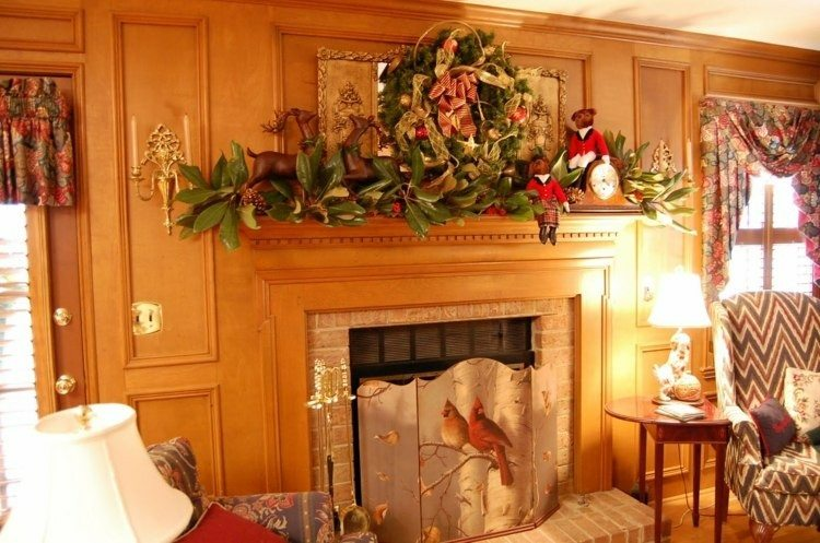 adornos chimenea motivos navideños