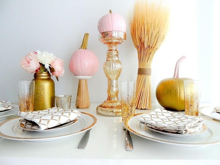 adornos modernos colores pastel otoño