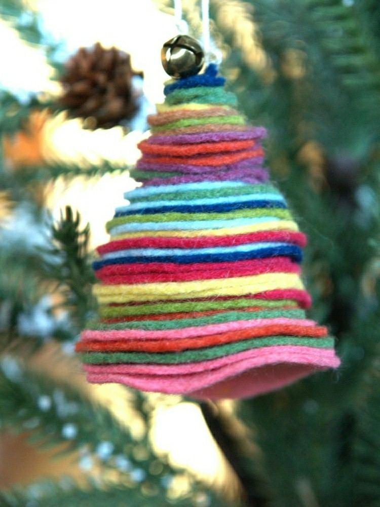 adornos navideos caseros arbolito lana