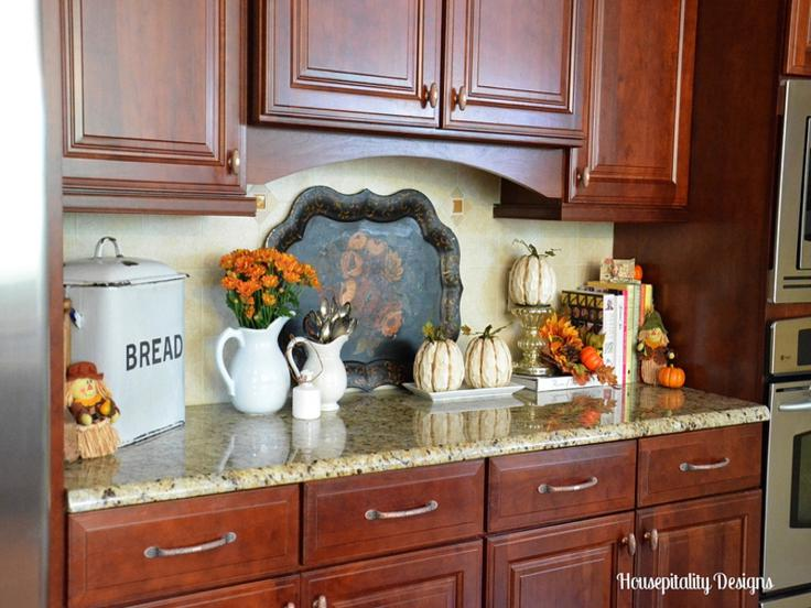 adornos cocinas otoño calabazas blancas