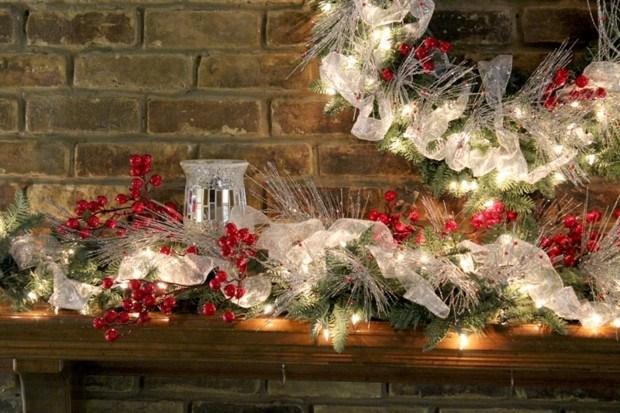 adornos navidad color plata