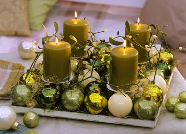 adornos de navidad color verde