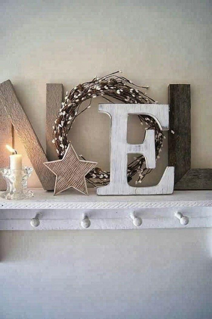 adornos navidad madera gris