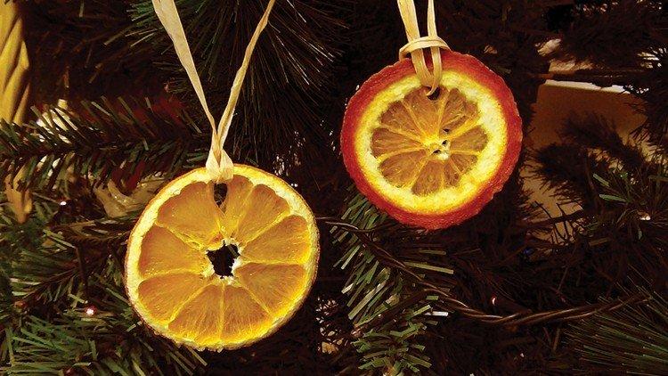 adornos navidad rodajas naranja colgantes