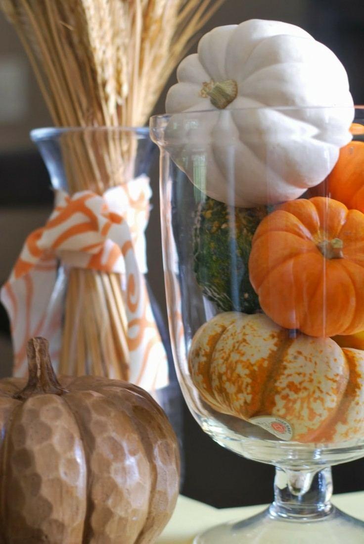 adornos otoño calabazas deco pequeñas