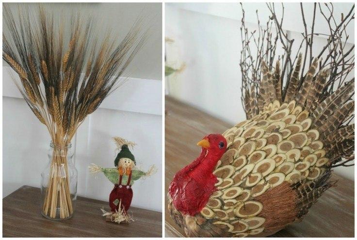 adornos otoño diseño cereales casero