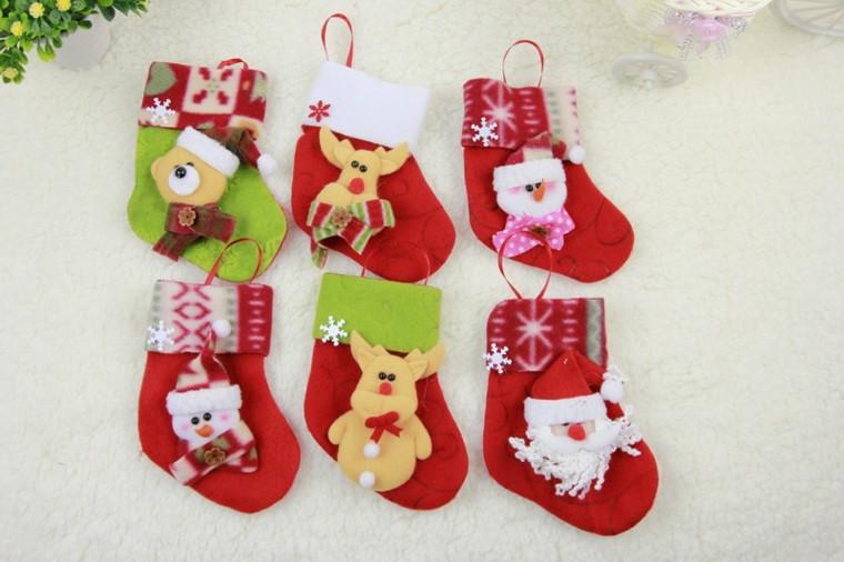 Calcetines navide os para decorar el hogar 50 ideas - Adornos para navidad 2015 ...