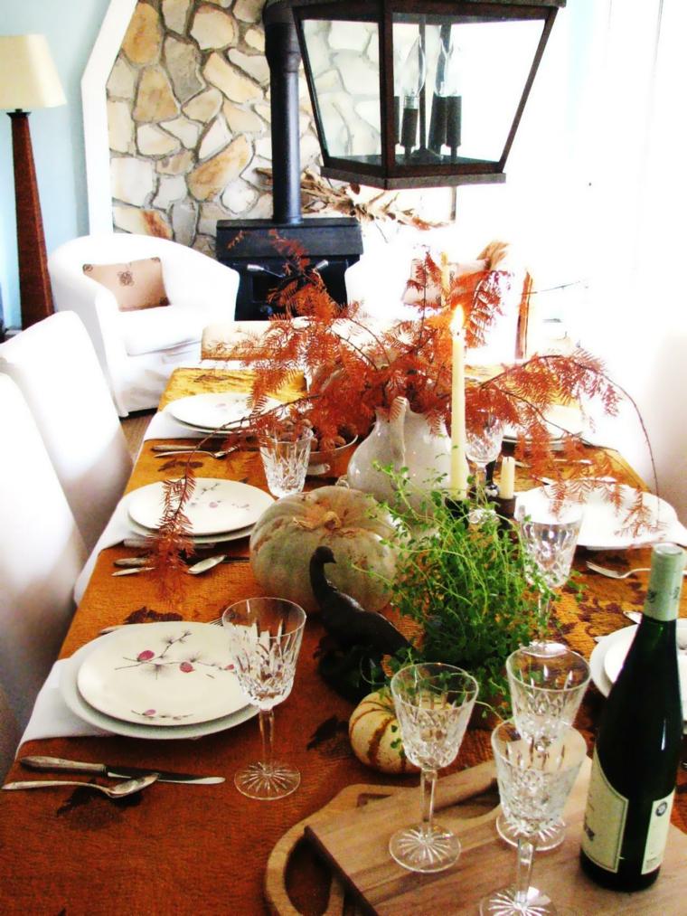 agradable fresca mesa velas farol