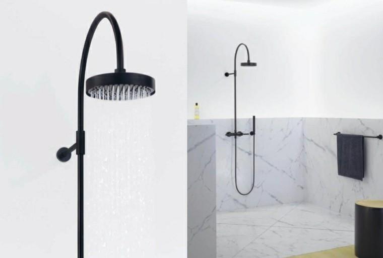 alcachofas ducha color negro baño