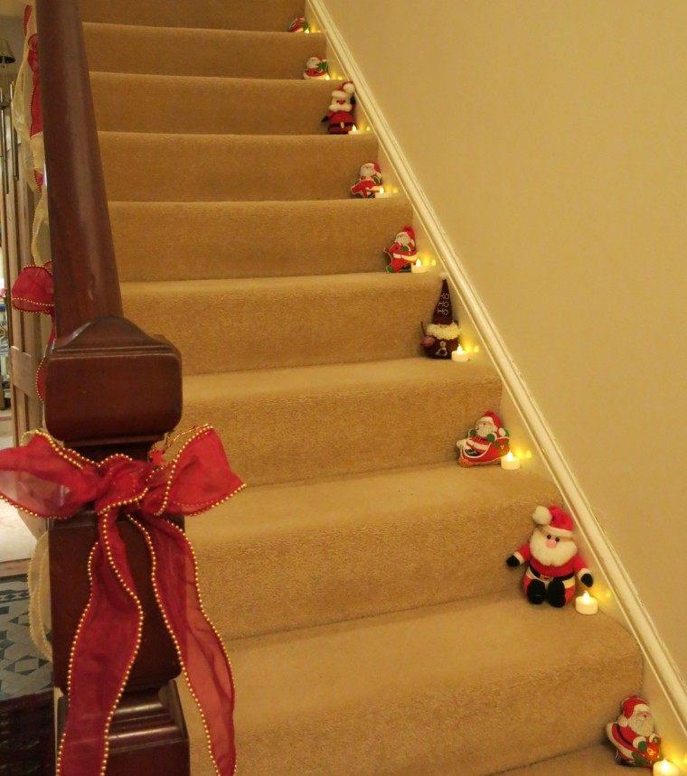 Ideas para decorar escaleras 75 propuestas para navidad - Decoracion para escaleras ...