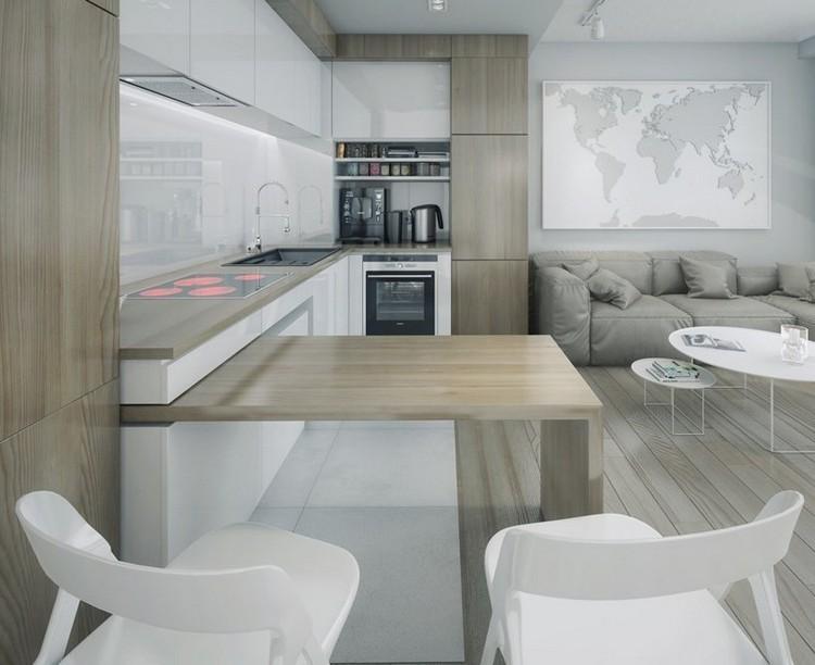 ambiente gris diseño cocina moderna