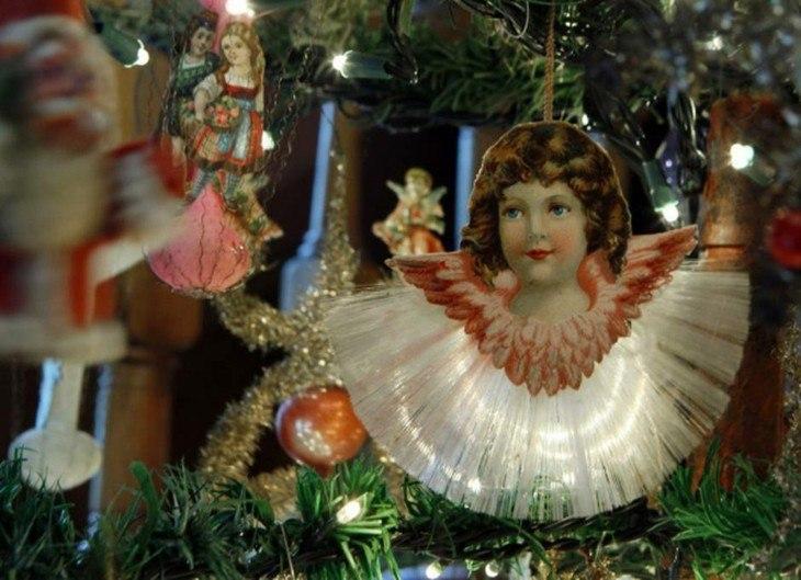 angeles retro rboles de navidad