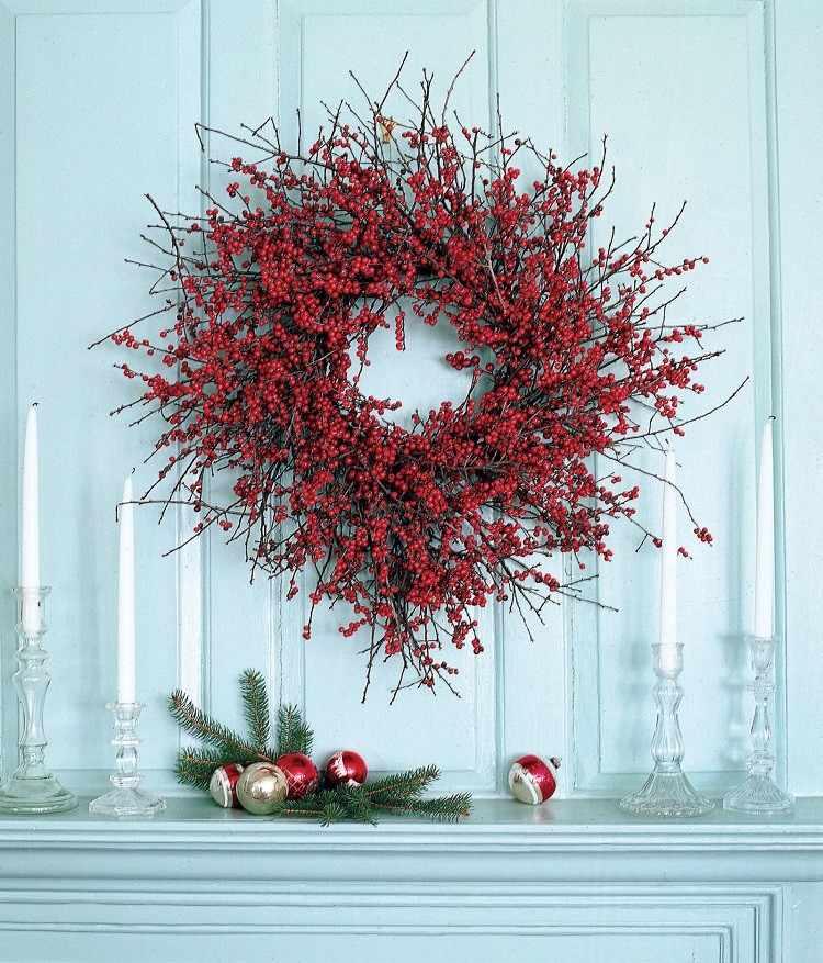 arandanos rojos diseño congelado madera bolas