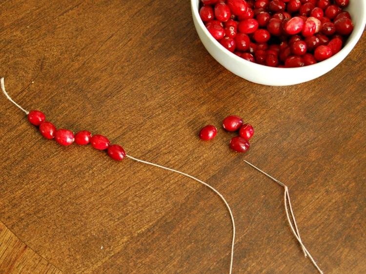 arandanos rojos estilo variante mesas cuerda cadeneta