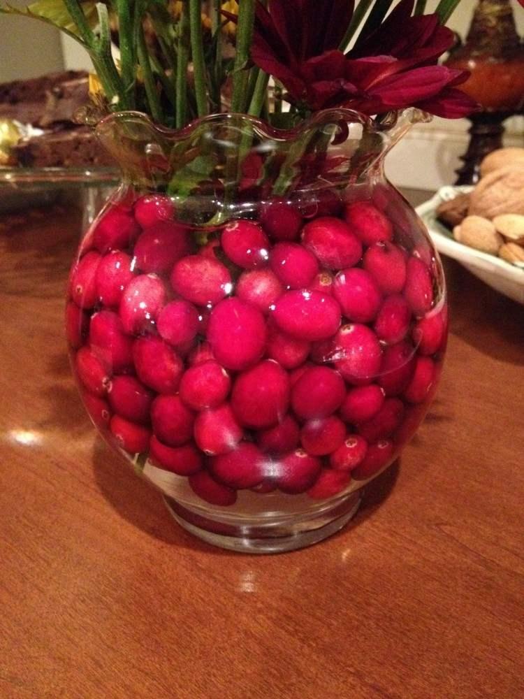 arandanos rojos estilo variante mesas flores diseño