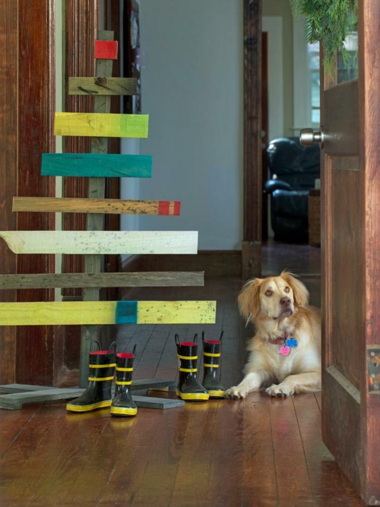 arbol madera diseño creativo perro