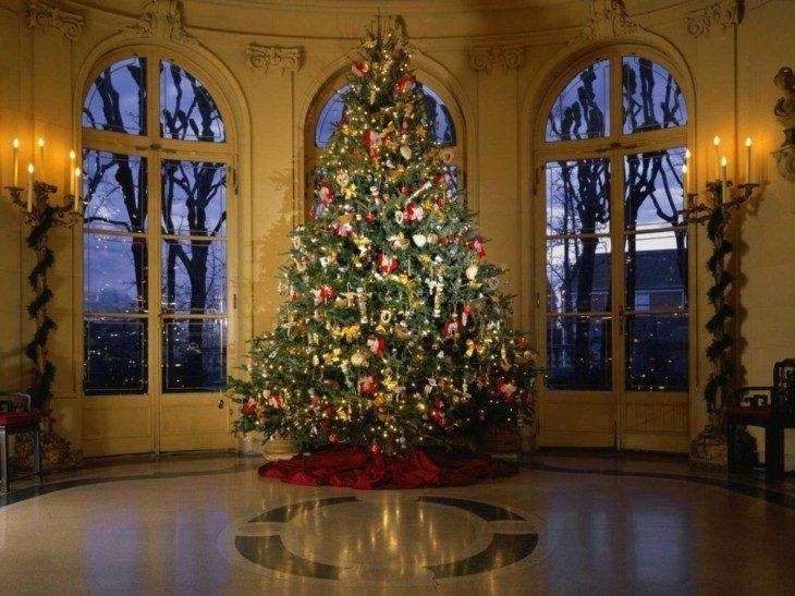 arbol navidad grande estilo retro