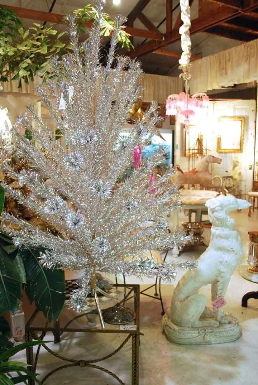 Blanca navidad de estilo vintage ideas para decorar su hogar - Arboles de navidad blanco ...