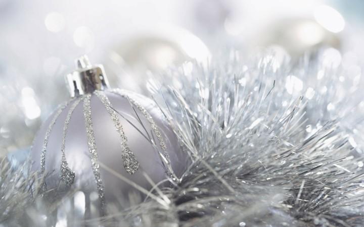 arbol navidad color blanco plata