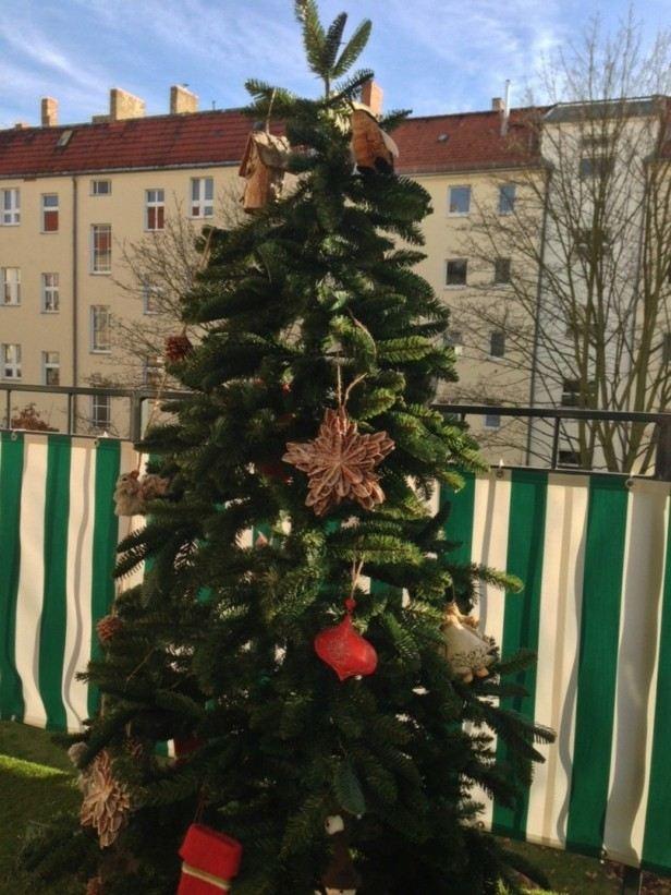 arbol navidad decorar terrazas