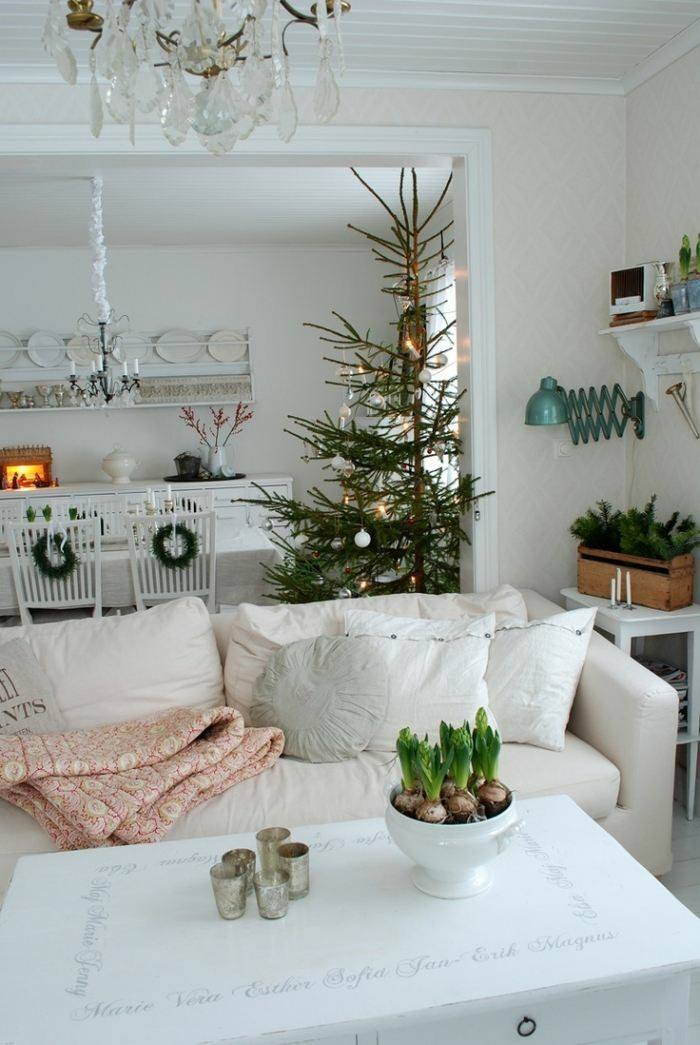 Decoracion nordica para esta navidad 38 ideas - Decoracion nordica salon ...