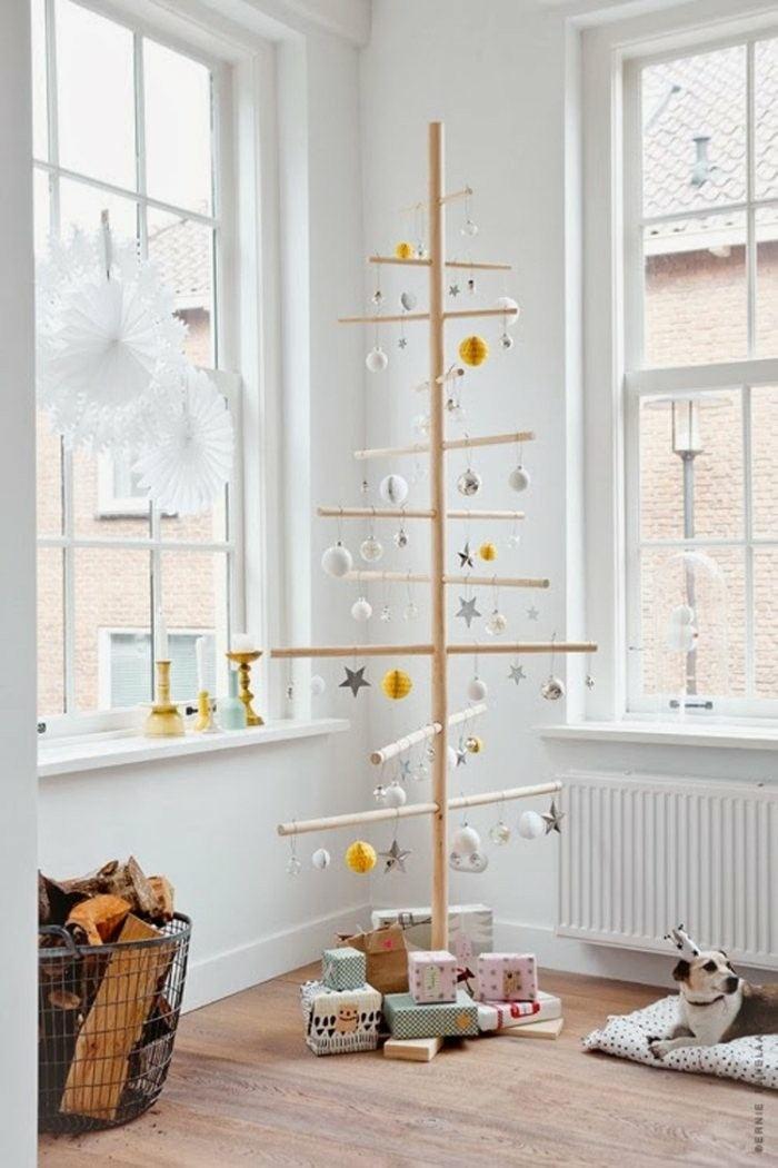 arbol navidad madera natural palos