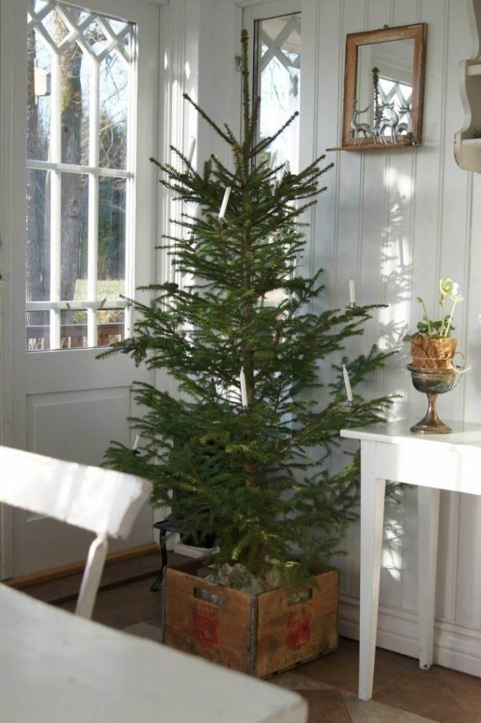 Decoracion nordica para esta navidad 38 ideas - Arbol de navidad abeto ...