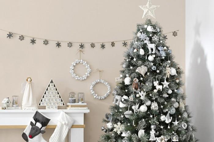 abeto navidad tonos grises
