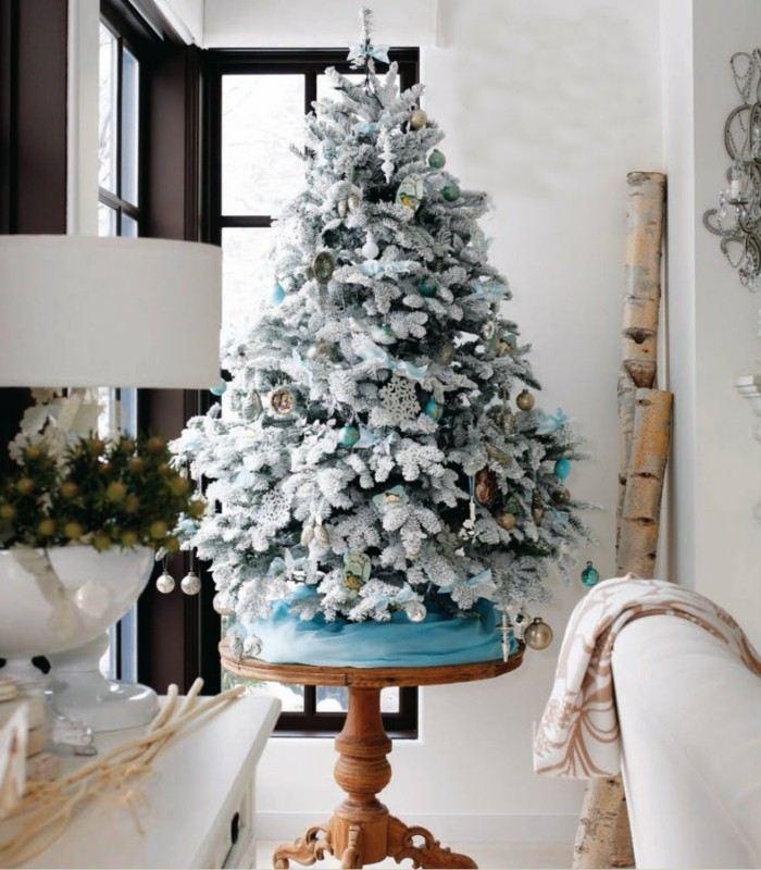 arbol navidad celeste gris