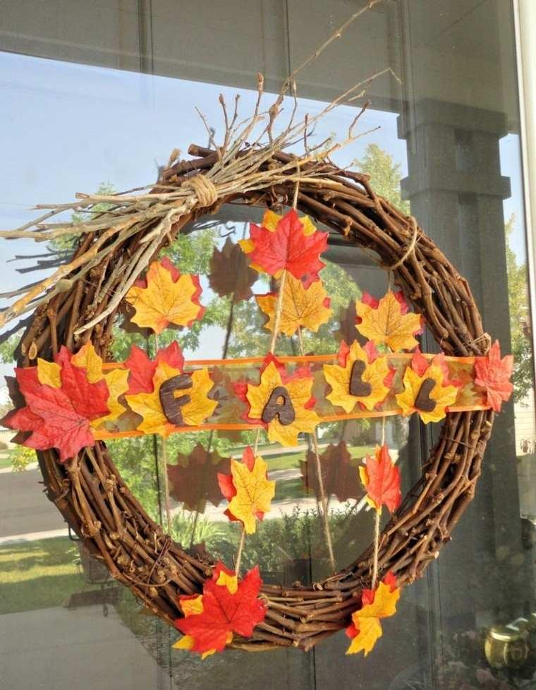 Arboles ideas de decoraciones hechas por ramas - Decorar hojas de otono ...