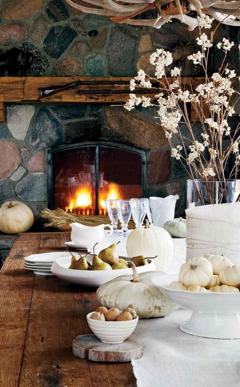 arbol ramas decorar casa otono jarron cristal ideas