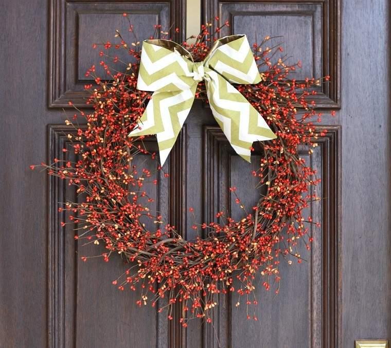 arbol ramas decorar casa otono lazo puerta ideas